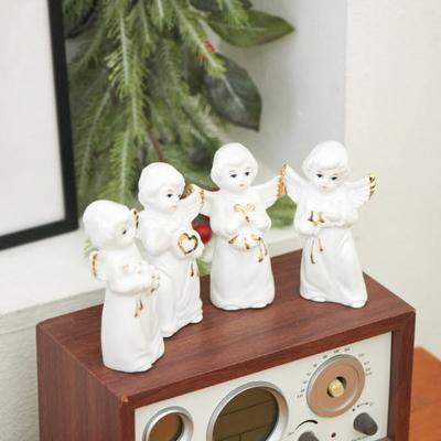 DS-S471세라믹 미니 천사 장식 인형 4종 크리스마스 데코 소품 선물