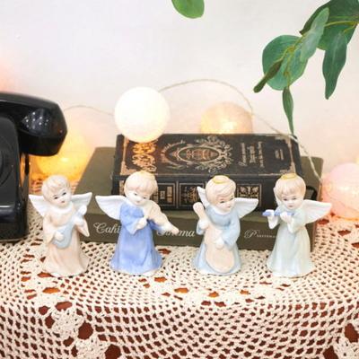 DS-S472세라믹 악단 천사 장식 인형 4종 크리스마스 데코 소품 선물