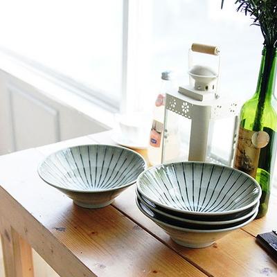 DS-L156일본 아케미 면기 4P세트 (20cm) 우동 그릇
