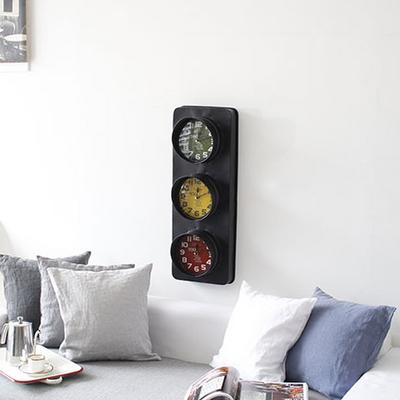 DS-J251빈티지 신호등 벽시계 (세로) 카페 소품 집들이 개업 선물 시계