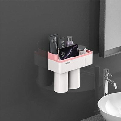 DS-G362 자석 양치컵 꽂이 칫솔 걸이 (핑크) 욕실선반 집들이 선물
