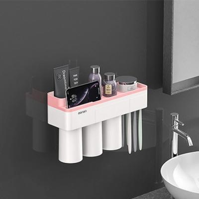 DS-G365 자석 양치컵 꽂이 칫솔 걸이 (핑크) 욕실선반 집들이 선물