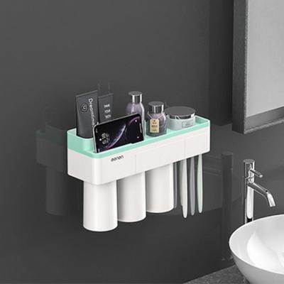DS-G366 자석 양치컵 꽂이 칫솔 걸이 (그린) 욕실선반 집들이 선물