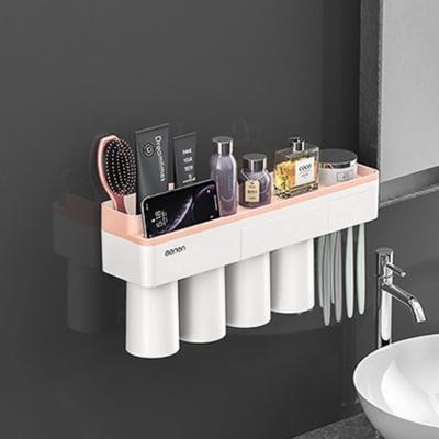 DS-G368 자석 양치컵 꽂이 칫솔 걸이 (핑크) 욕실선반 집들이 선물