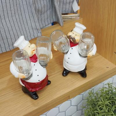 DS-S569주방장 조미료통 장식품 2type 카페 소품 개업 집들이 선물