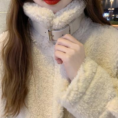 스웨이드 안감 뽀글이 후리스 겨울 코트