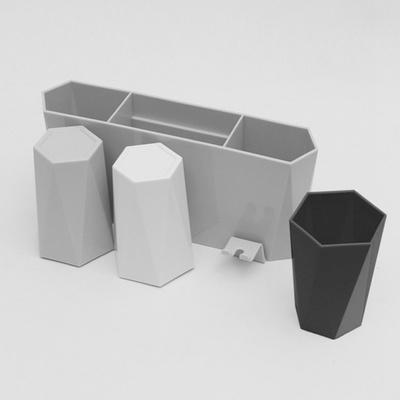 DS-G841무타공 양치컵 3P 칫솔걸이 욕실 선반 모던