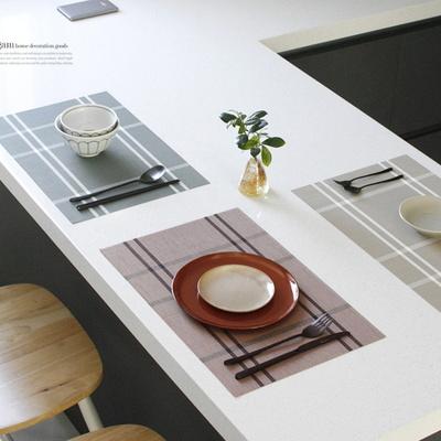 DJ-36고급 레스토랑 체크 식탁매트 테이블매트