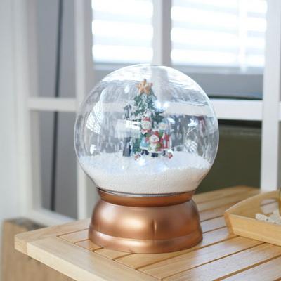 DS-S791원형볼 눈내리는 LED 크리스마스 오르골