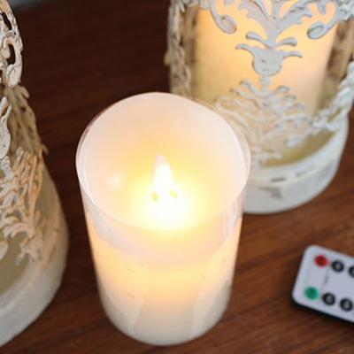 DS-S802흔들리는 LED 삼지초 크리스마스 촛불