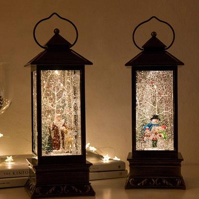 DS-S782사각 랜턴 LED 워터볼 크리스마스 오르골
