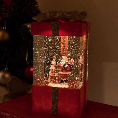 DS-S786선물상자 워터볼 크리스마스 오르골