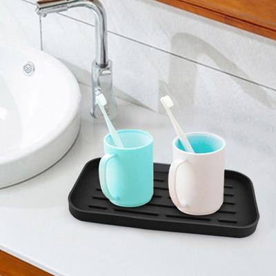 DS-G733주방 욕실 컵 건조대 논슬립 실리콘 트레이