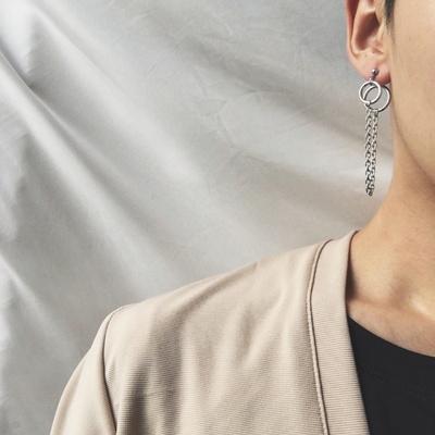 남자 귀걸이 체인 오른쪽 드롭 학생 DCE