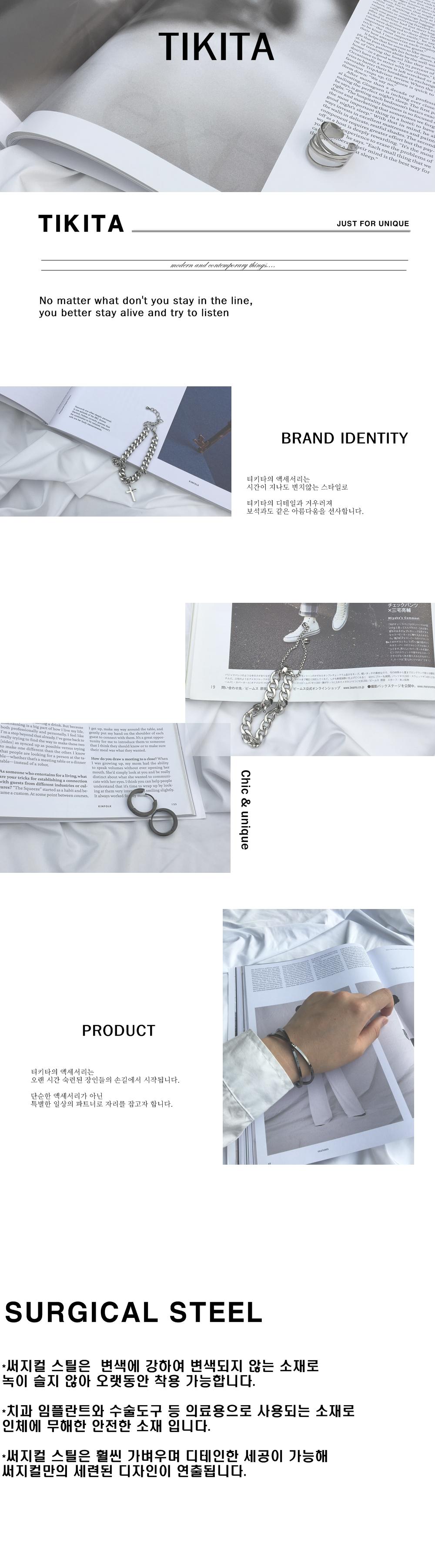 남자 귀걸이 이어커프 링 피어싱 써지컬 스틸 strggl - 티키타, 18,900원, 남성주얼리, 귀걸이