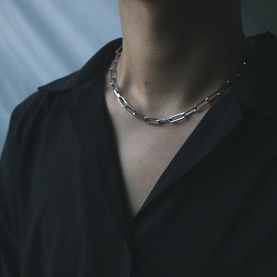 남자 목걸이 힙합 체인 패션 써지컬 스틸 사슬 ICN