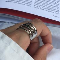 남자 패션 반지 써지컬 스틸 학생 체인 spring ring