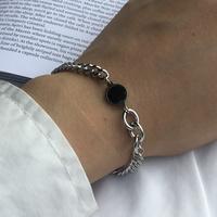 남자 팔찌 패션 코인 써지컬 스틸 체인 BNW Bracelet