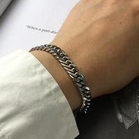 남자 팔찌 심플 체인 써지컬스틸 학생 CL bracelet