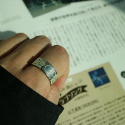 남자 반지 패션 실버 링 letter D layerd ring