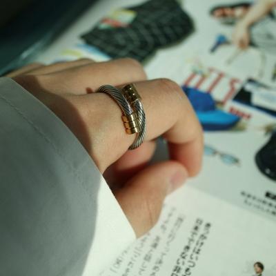 남자 반지 실버 실 링 silver thread ring