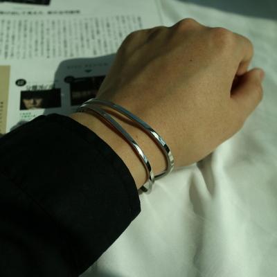 남자 팔찌 실버 뱅글 snail bangle bracelet