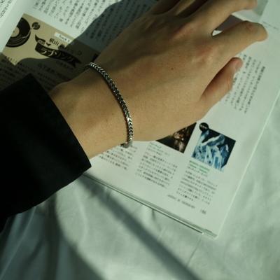 남자 팔찌 얇은 레이어드 square layered bracelet