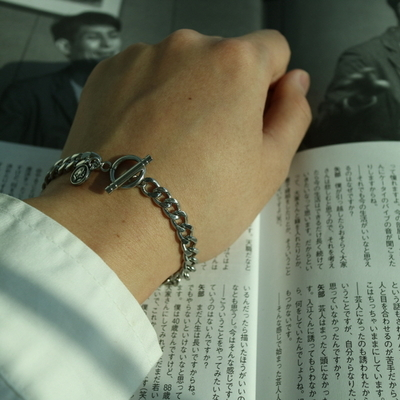 남자 팔찌 학생 체인 t-shaped pendant bracelet