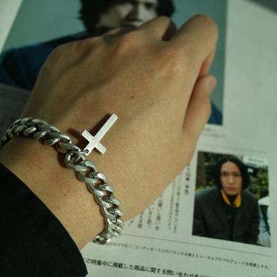 남자 팔찌 십자가 펜던트 two point cross pendant bracelet