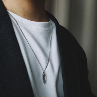 남자 목걸이 총알 체인 s bullet necklace