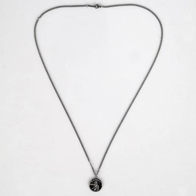남자 목걸이 레이어드 패션 코인 펜던트 prince necklace