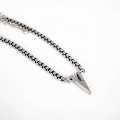 남자 팔찌 써지컬스틸 사각 체인 힙합 v pendant