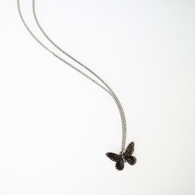 남자 목걸이 나비 펜던트 써지컬스틸 antique butterfly