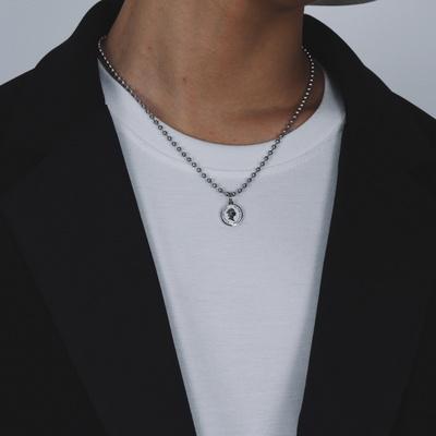 남자 군번줄 목걸이 써지컬 체인 bead main coin