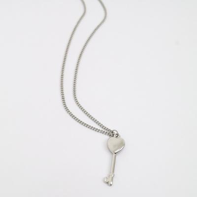 남자 목걸이 하트열쇠 학생 패션 체인 Key