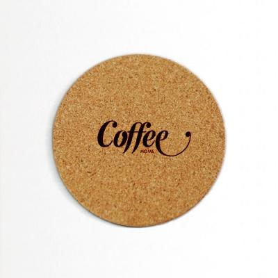 커피 디자인 코르크 코스터 90x3mm 4종