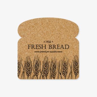 식빵 디자인 코르크 코스터 114x114x10mm