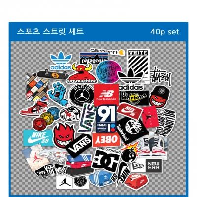 캐릭터 노트북 캐리어 방수 스티커 40p 1set