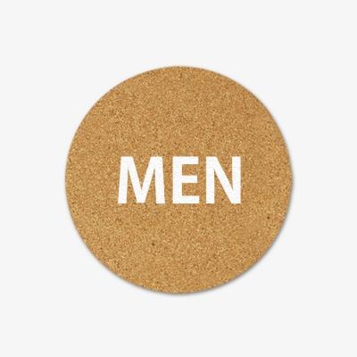 코르크 도어사인(화장실,욕실 등)TOILET MEN WOMEN