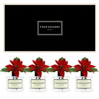 포시즌 사계절 선물세트 디퓨저 200ml 포인세티아 스몰꽃 x4