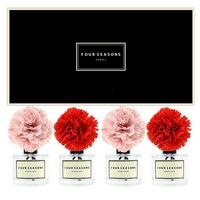 포시즌 사계절 선물세트 디퓨저 200ml 카네이션 레드2+핑크2 꽃 x4