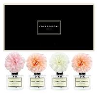 포시즌 사계절 선물세트 디퓨저 200ml 지니아 피치2+핑크+화이트꽃 x4