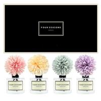포시즌 사계절 선물세트 디퓨저 200ml 맘 핑크+피치+스카이블루+라벤더꽃 x4