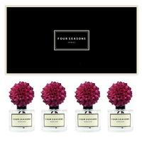 포시즌 사계절 선물세트 디퓨저 200ml 메리골드 퍼플꽃 x4
