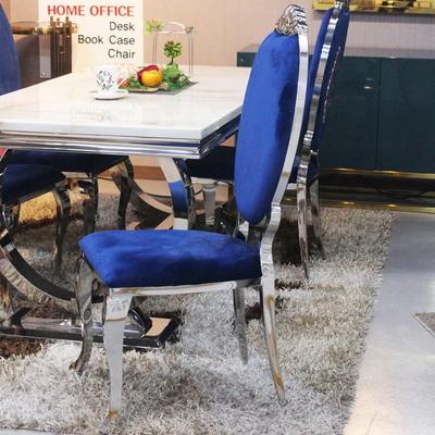 식탁의자 벨루가 블루벨벳체어