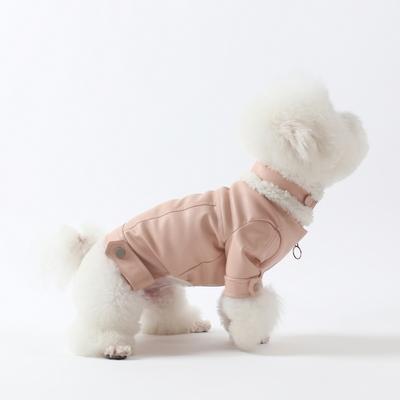 에덴숑- Mustang Rider jacket-Pastel Pink(무스탕라이더자켓-파스텔핑크)