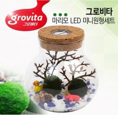 그로비타 마리모 LED 미니 어항 세트 (원형)