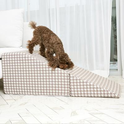 니보 하운드 접이식 슬라이드 -웜그레이 강아지 계단 미끄럼방지 밑면