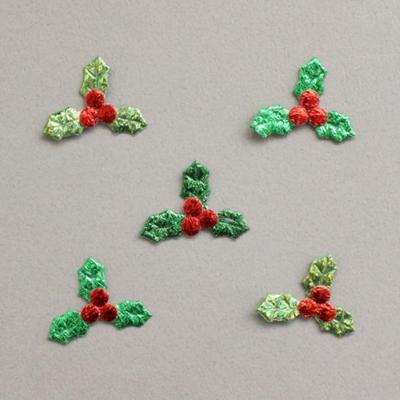 미니빨간열매침엽수잎 30p