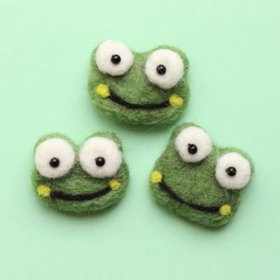 초록개구리 양모펠트1p